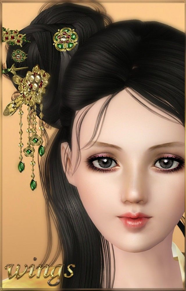 Ancient hair accesories by Wings Sims3 - Sims 3 Downloads CC