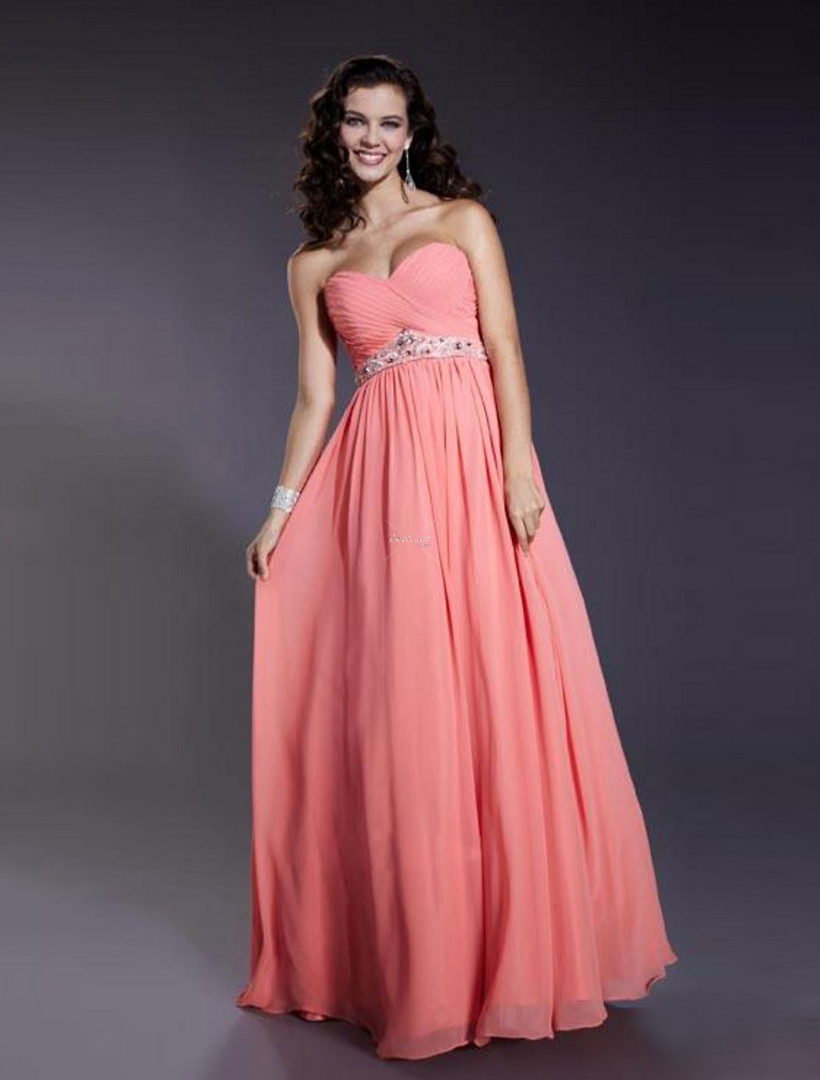 bridesmaid dresses salmon color | ... Dress/Evening Dress LPD84670 ...
