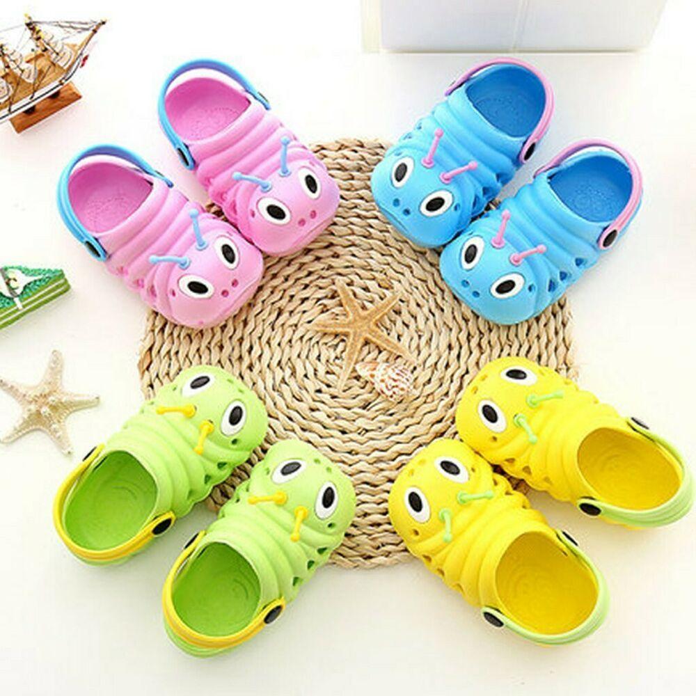 Summer Shoes Toddler Baby Boys Girls Cartoon Beach Sandals Slippers Flip Shoes