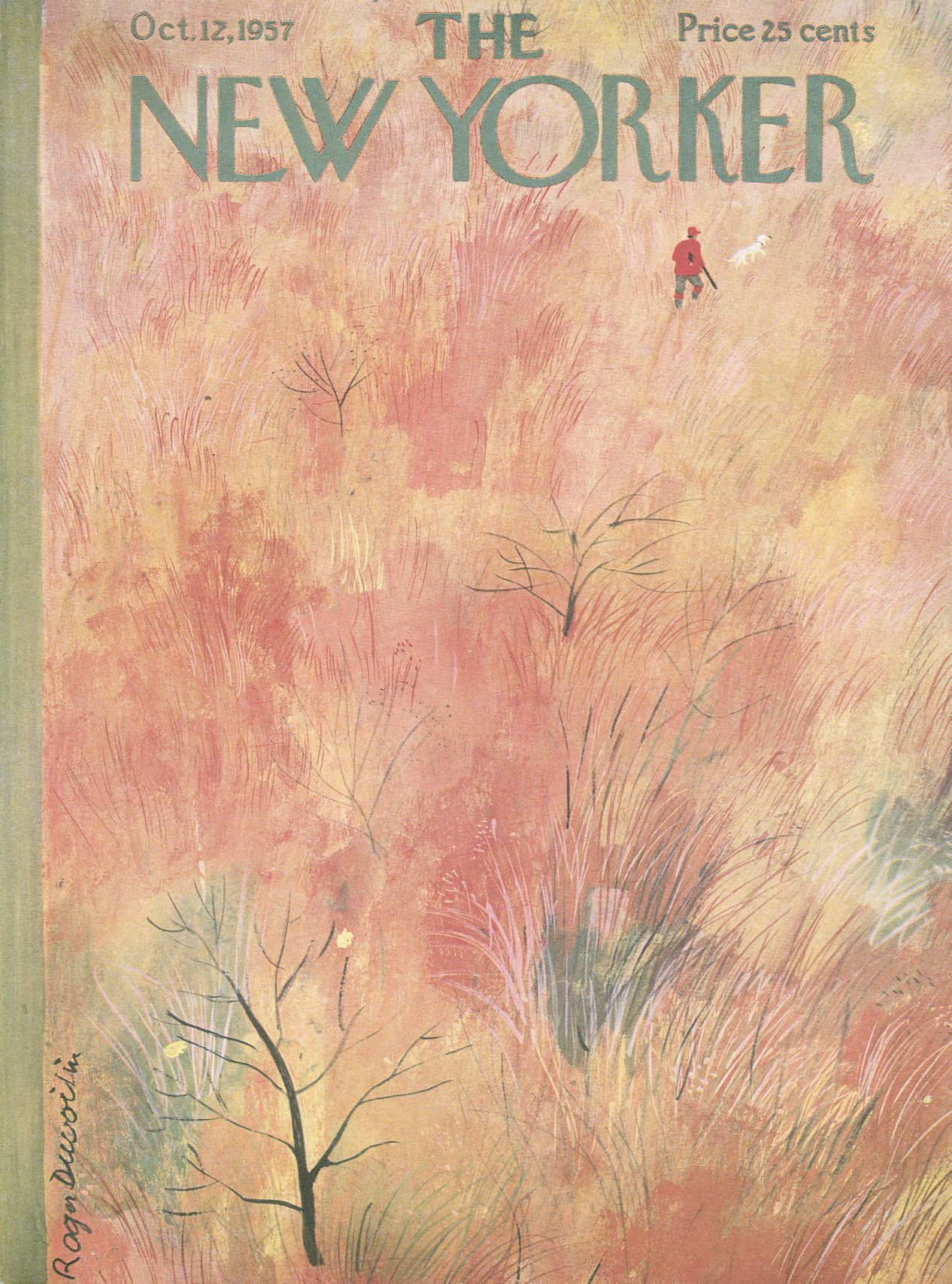 The New Yorker - Saturday, October 12, 1957 - Issue # 1704 - Vol. 33 - N° 34 - Cover by : Roger Duvoisin