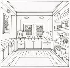 Image Result For One Point Perspective Drawings Room Perspective
