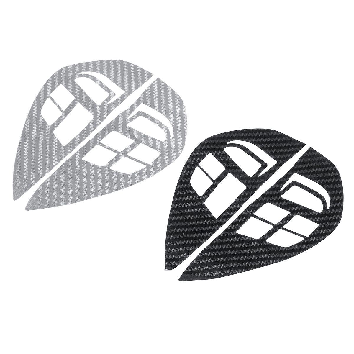 Carbon Fiber Pattern Car Steering Wheel Control Stickers