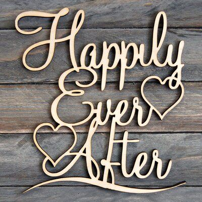 aMonogram Art Unlimited Happily Ever After Painted Wooden Monogram Wall Decor Color: Lilac