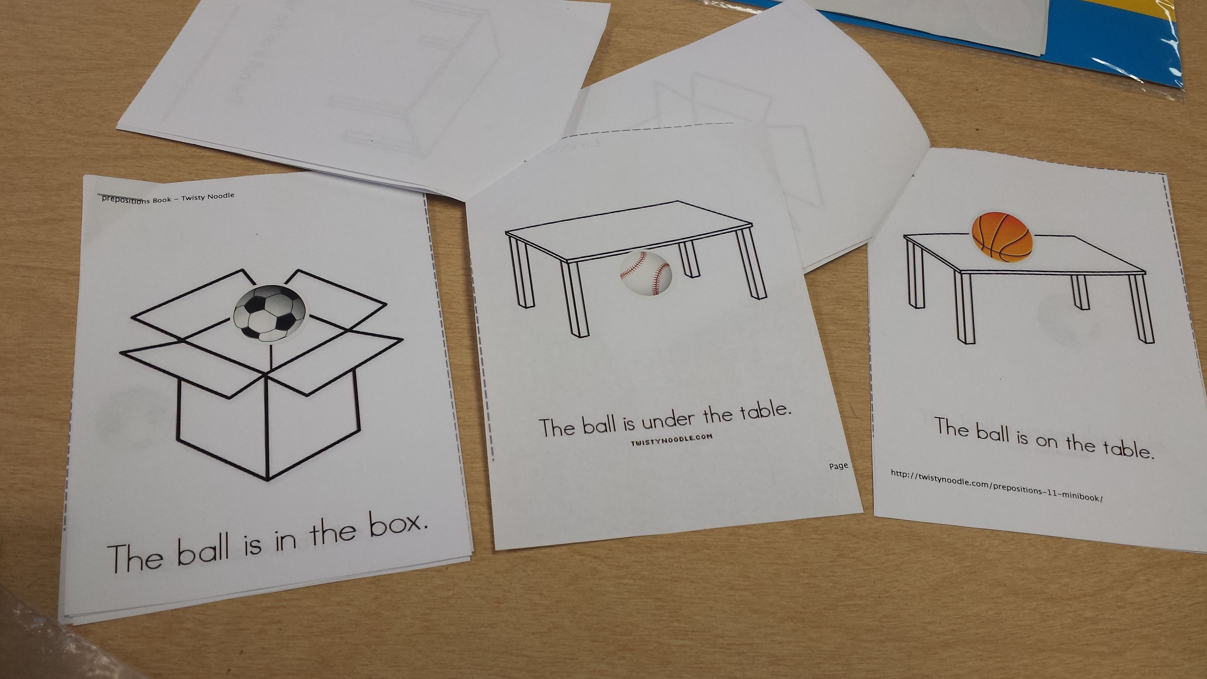 We Made These Preposition Books Using Twisty Noodle I