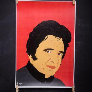 Johnny Cash Icon Poster on BourbonandBoots.com