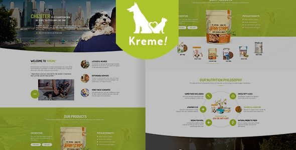Kreme - зоомагазин / питомник WordPress тема  ⠀  Kreme – is a flexible flat WordPress theme made specifically for pet store owners. This WordPress theme is tailor made for puppy shops, however it's use is designed to easily suit pet stores of all...  ⠀  #catfood #columns #dogfood #mthememarket #petshoptheme #petstore #petstoretemplate #puppy #themeforest #petshop #petfood #responsive #petcare