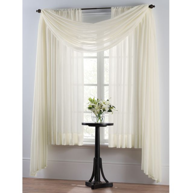 Sheer Draped Curtain For Front Bedroom