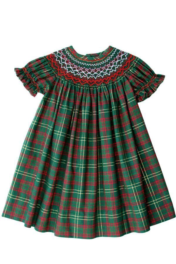 3cd271d6d Holiday Christmas Smocked Girls Bishop Dress PRE-ORDER