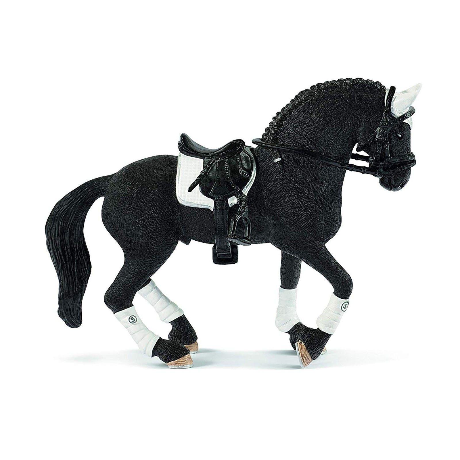 Schleich Horse Club Frisian Stallion Riding Tournament Toy Animal Figure Multicolor Schleich Horses Friesian Stallion