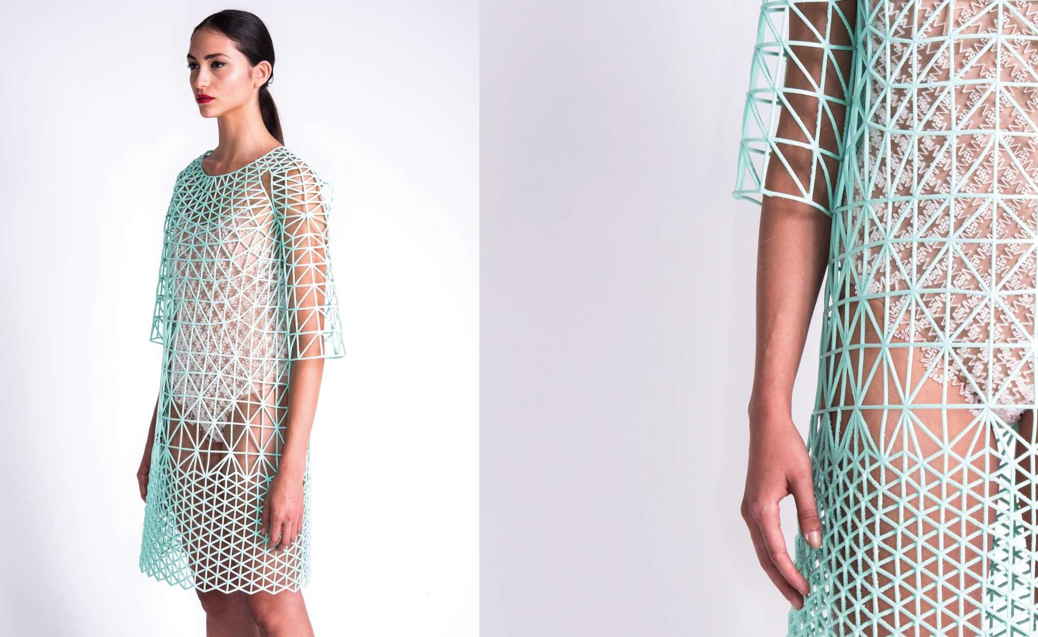 Danit Peleg's 3-D printed graduate collection. Photo: Danit Peleg.