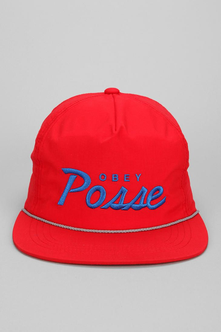 0314839598b OBEY Lo Posse Snapback Hat  urbanoutfitters