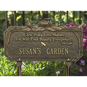 Whitehall Address Custom Plaque Dianthus Garden Quote