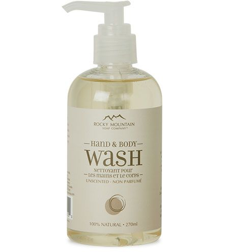 Rocky Mountain Soap Company Unscented Hand Body Wash With
