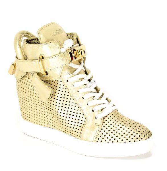 Sneakersy Carinii B3767 M I65 000 000 B88 Zloty Wedge Sneaker Shoes Sneakers
