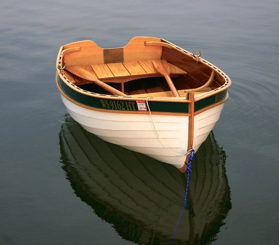 Wooden boat dinghy by mariposawoodworks on etsy for Fishing row boats