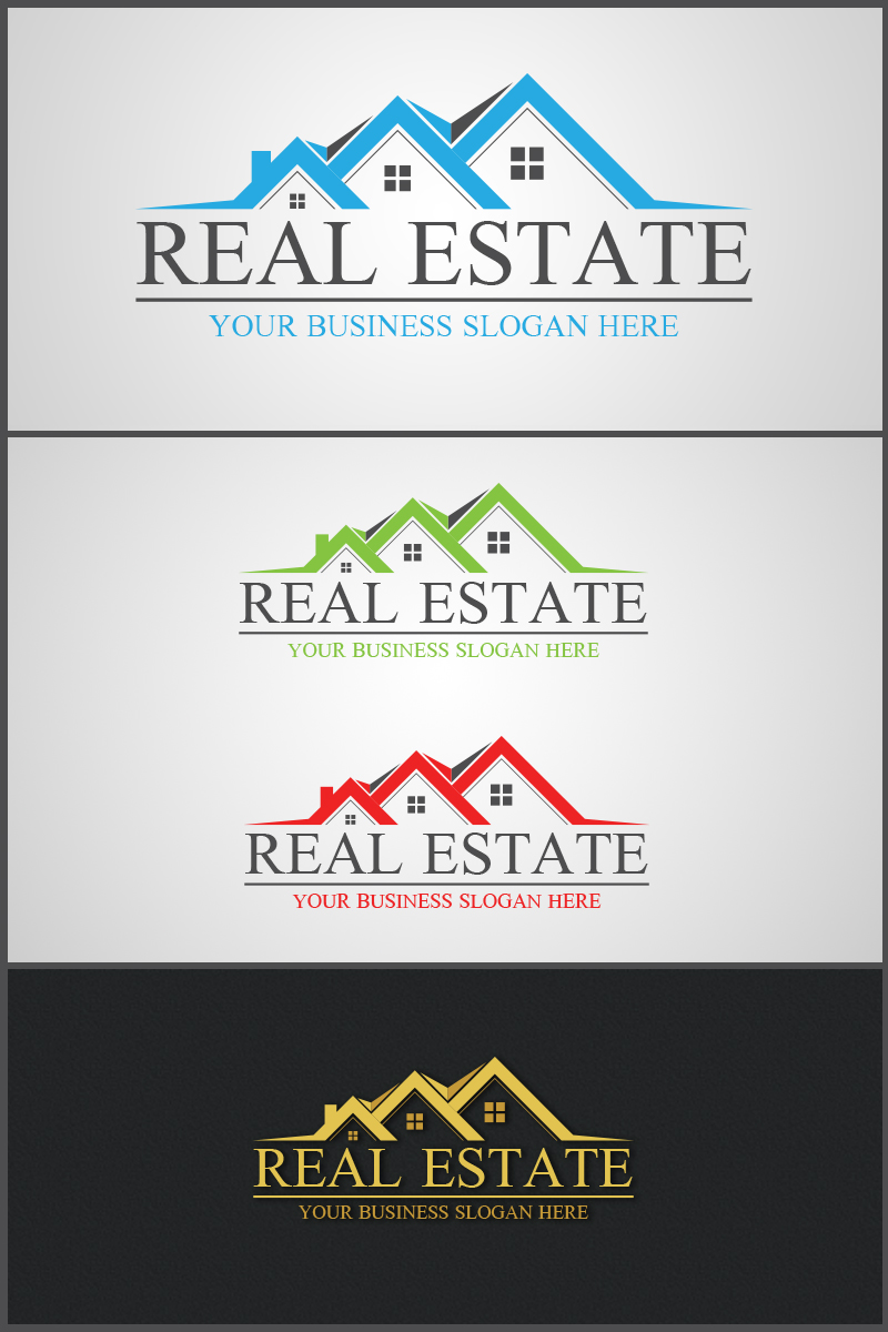 Real Estate Logo Template in 2020 Logo templates, Real