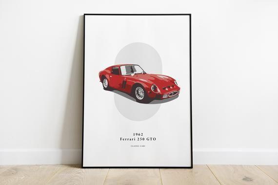 1962 Ferrari 250 GTO – Classic Car Prints – for a car enthusiast     **DOWNLOAD*…