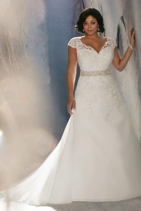 Ivory/White Organza Sweetheart Wedding Dress Plus Size Bridal ...