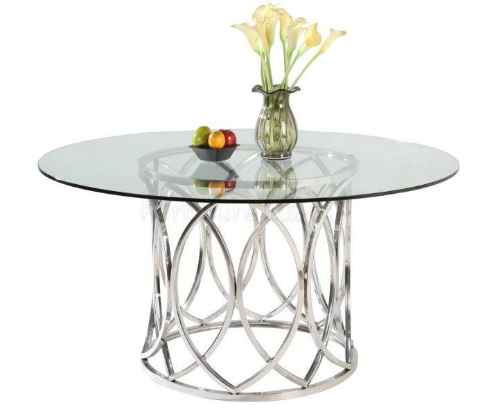 Ch Cortez Modern Dining Table With Images Stainless Steel