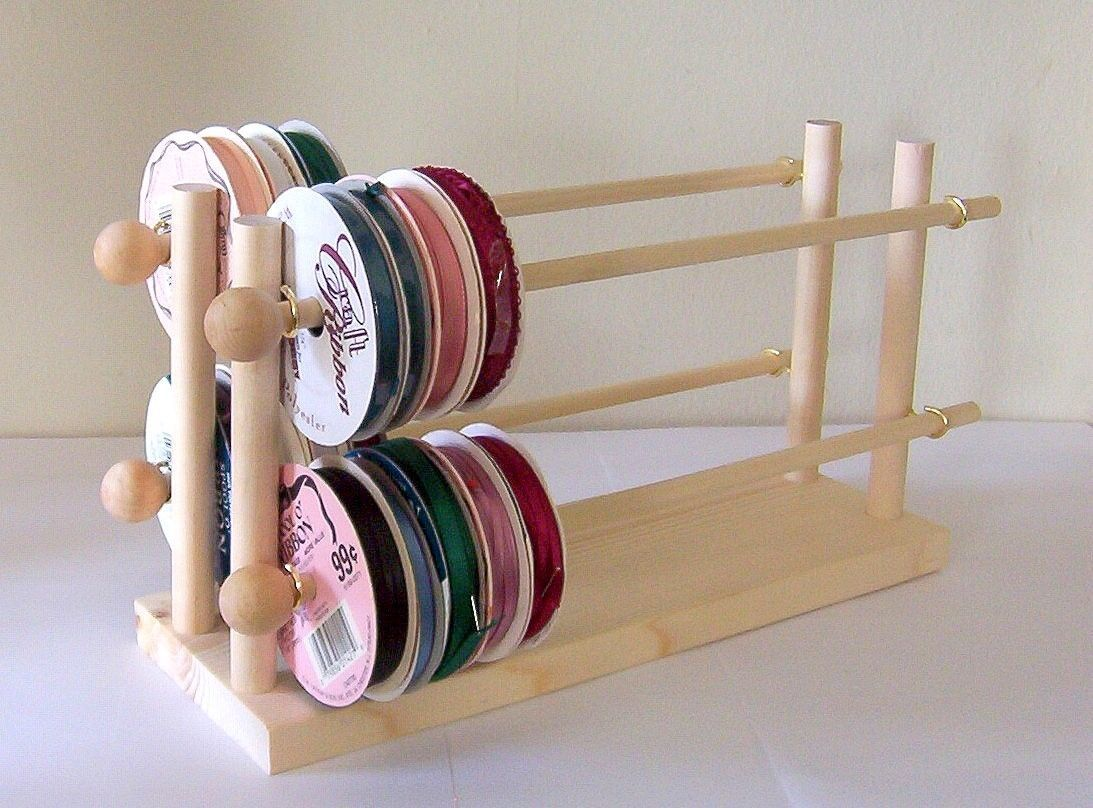 Ribbon Or Wire Holder Rack Organizer Holds Up To 75 Spools