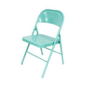 Cool Sams Club Shin Crest Decorative Metal Folding Chair Teal Gmtry Best Dining Table And Chair Ideas Images Gmtryco