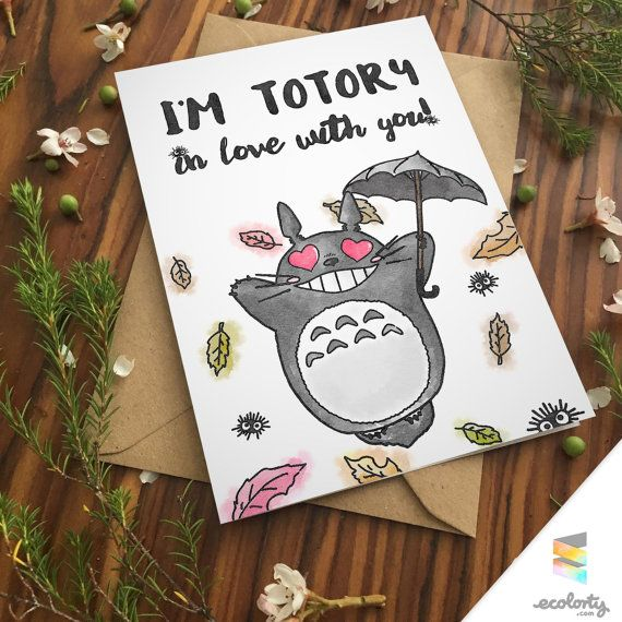TOTORO PUN Greeting Card – Totoro Birthday Card