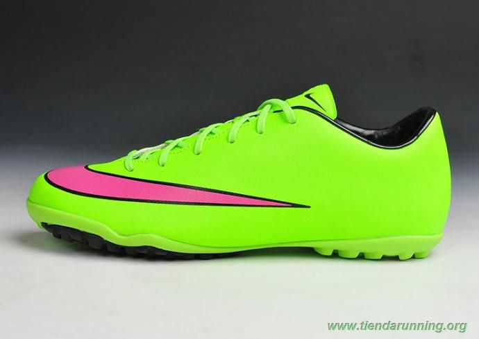 hot sales ceee6 e96c6 TF Verde Rosa Nike Mercurial Victory X Hombre bambas running