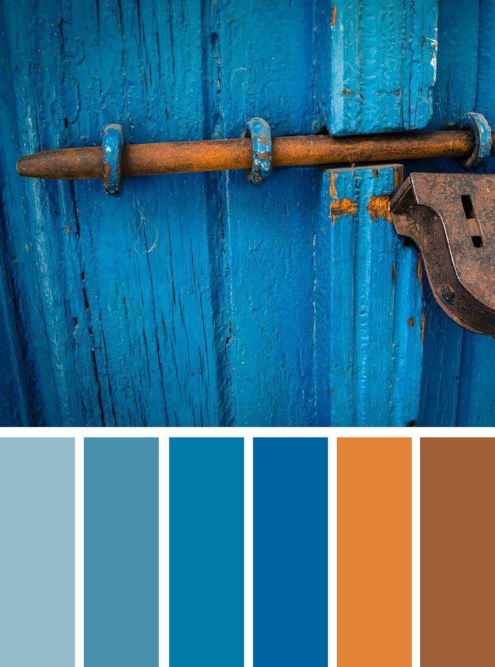 Blue And Rust Color Scheme Rust Color Schemes Color Schemes Blue Color Schemes