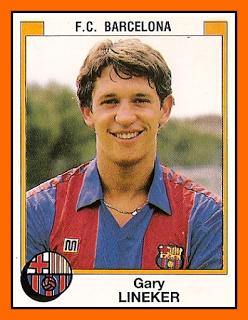 Gary Lineker with Barcelona, 1986.