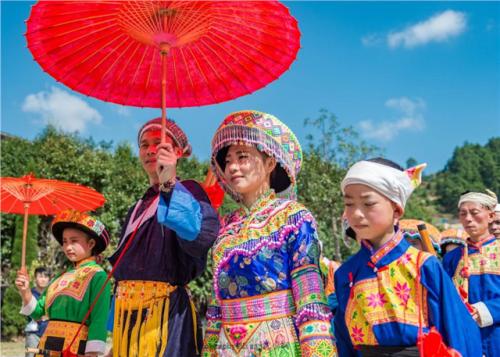Hmongb, Hmub, Hmaob, Hmiob, Xongb - The Leishan Miao celebrated their new year this...