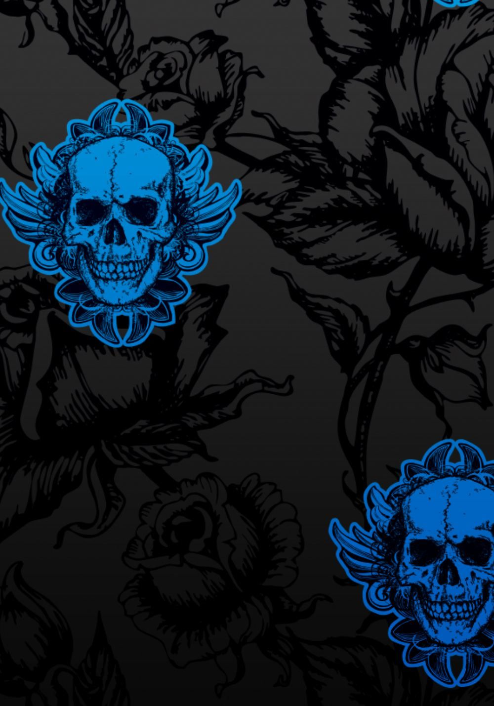 Large Winged Skull Wallpaper | Skull Gallery | Pinterest