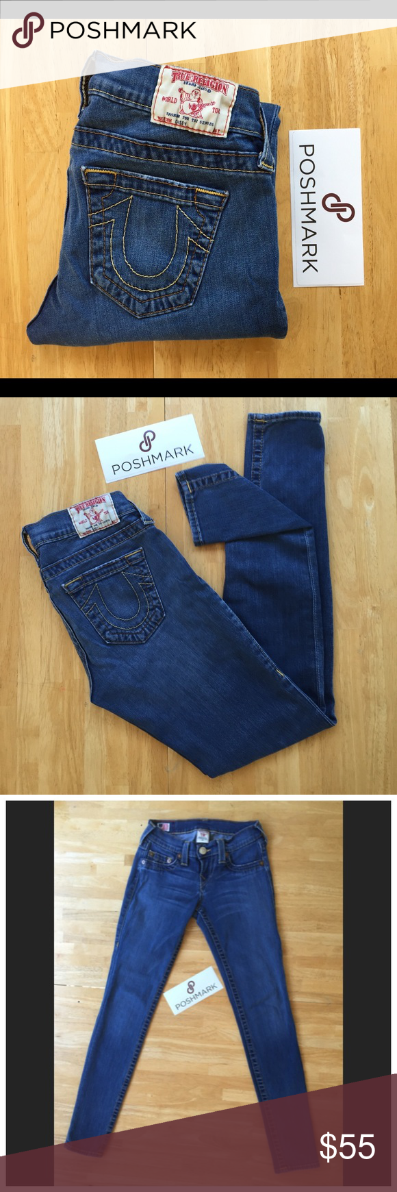 """LISTING. TRUE RELIGION SKINNY JEANS True Religion """"Casey"""" Skinny Jeans. In great condition. Stretchy soft denim. 28 inseam. True Religion Jeans Skinny"""