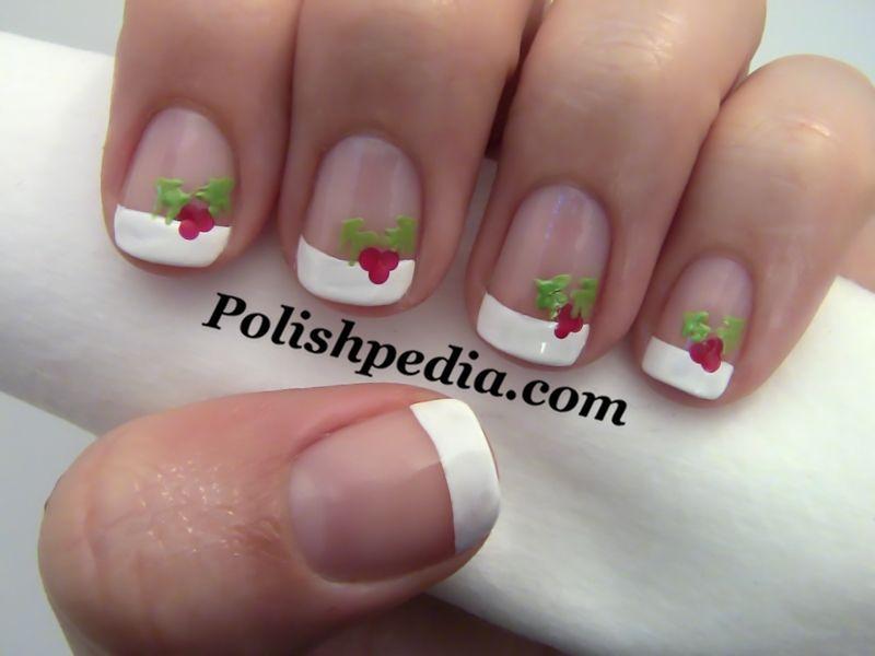 Nail art christmas holly nail art polishpedia nail art nail art christmas holly nail art polishpedia prinsesfo Images