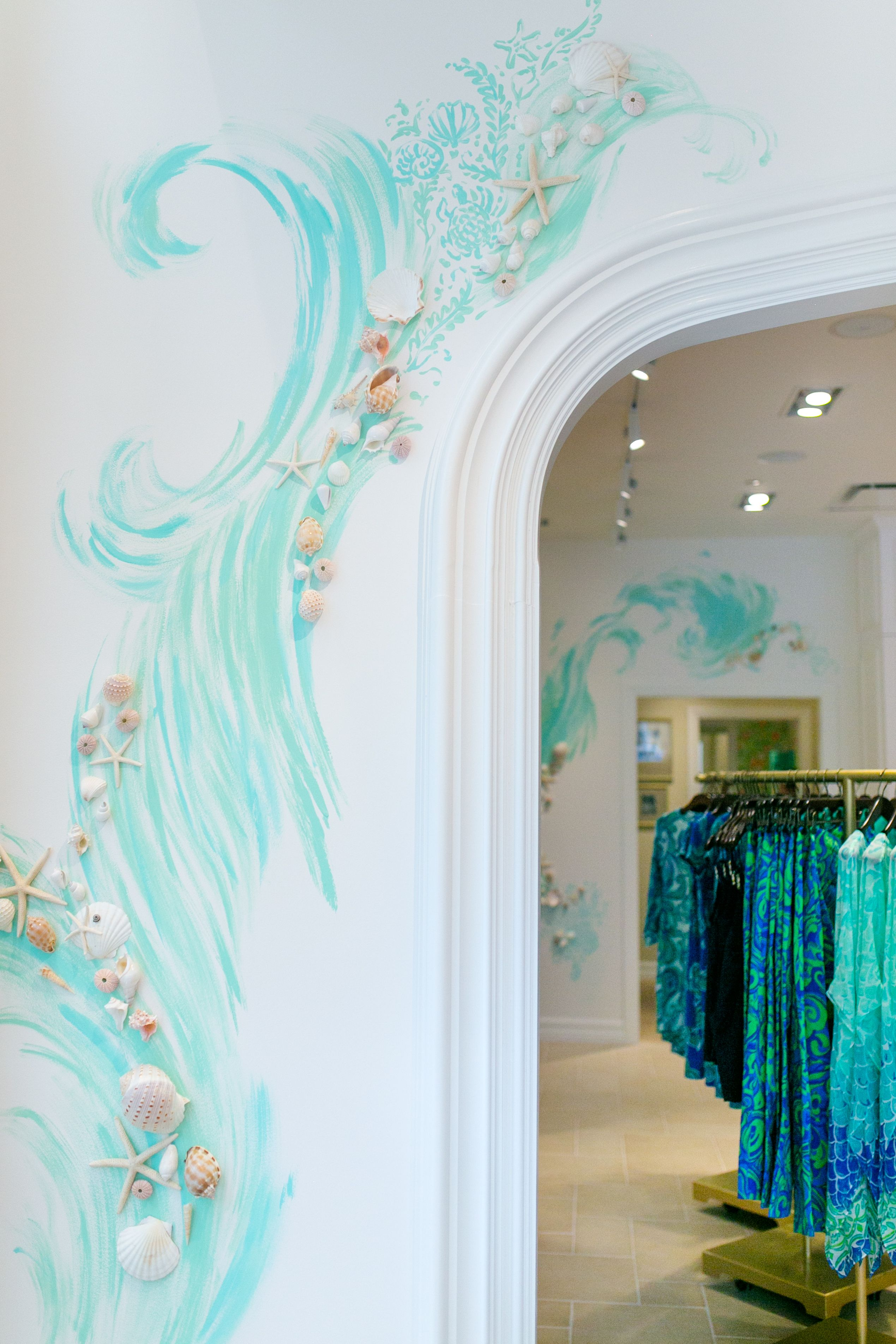 Hand painted wall detail at our newest lilly pulitzer store at hand painted wall detail at our newest lilly pulitzer store at coconut point in estero amipublicfo Images