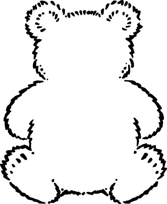 Outline of teddy bear google search preschool bears for Name the bear template