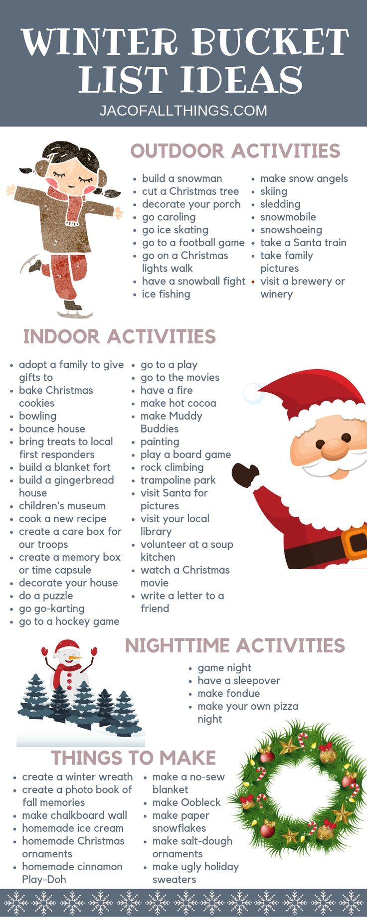 Photo of Winter Bucket List Ideas and Activities