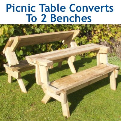 How to make a wood picnic table that converts to two benches proch how to make a wood picnic table that converts to two benches watchthetrailerfo