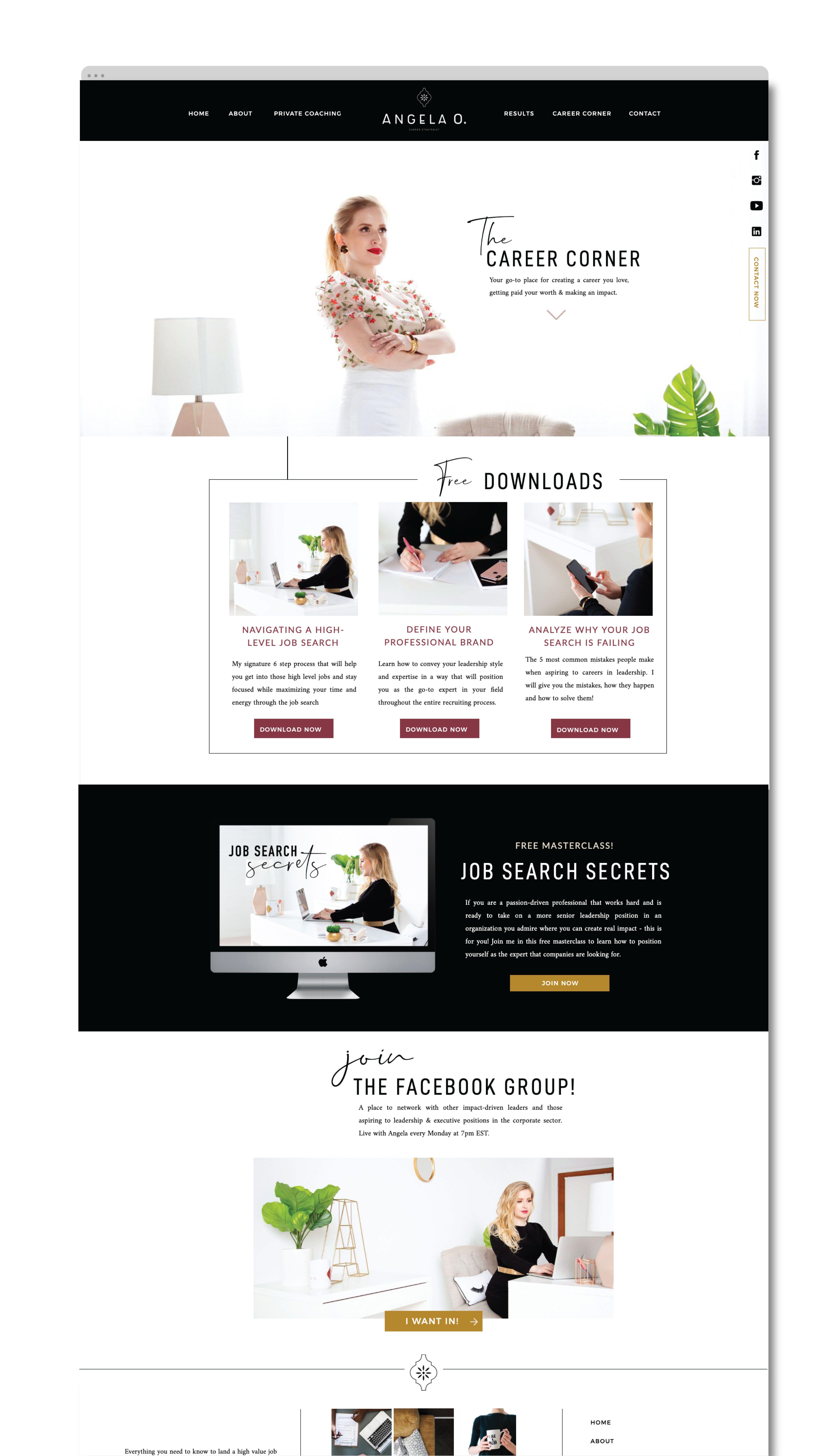 Brand And Website Design For Health And Wellness Businesses Logo Design Website Design Nutr Website Design Website Design Inspiration Business Coach Website