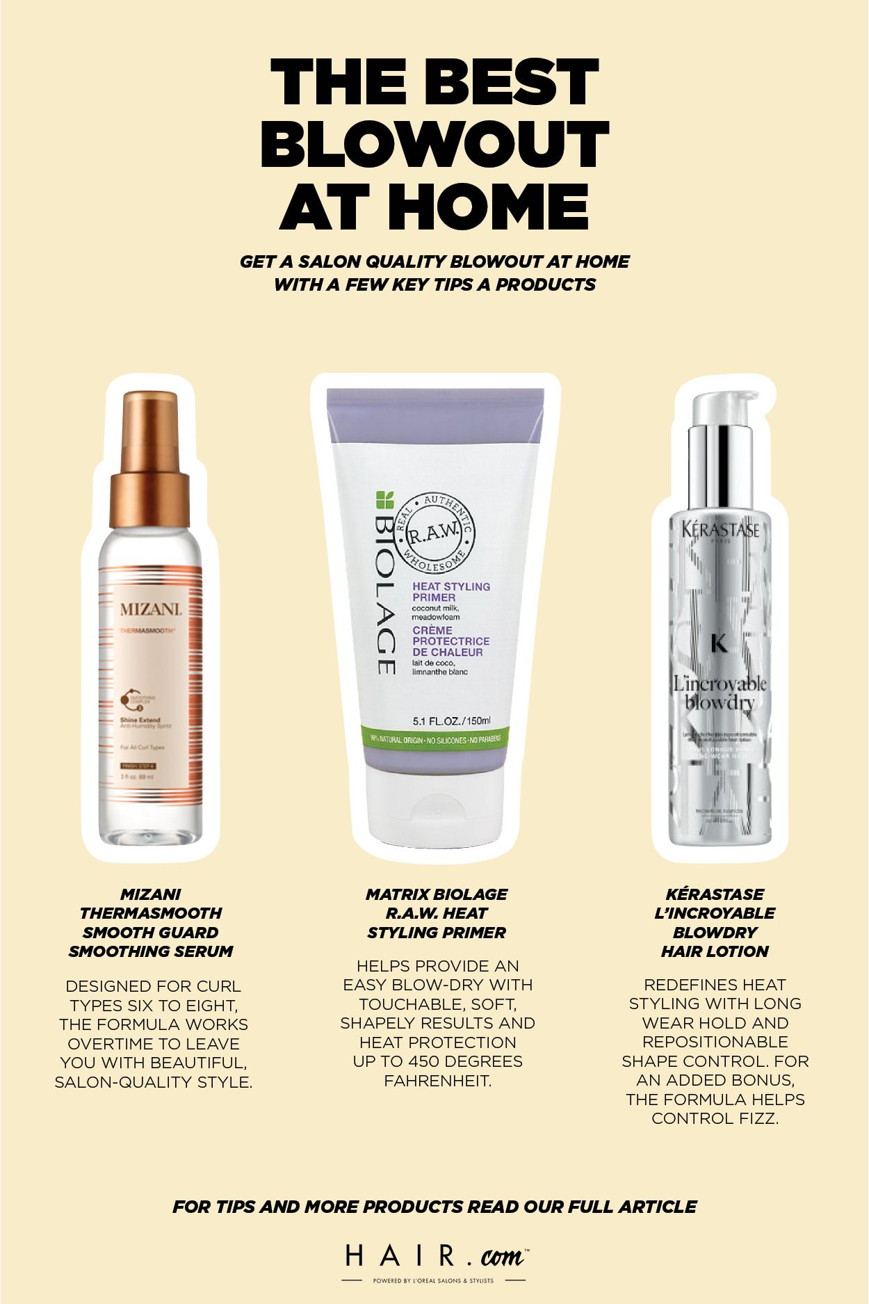The 8 Best Blowout Products Will Change How You Blowdry Hair Com By L Oreal Perfect Blowout Hair Lotion Blowout Hair