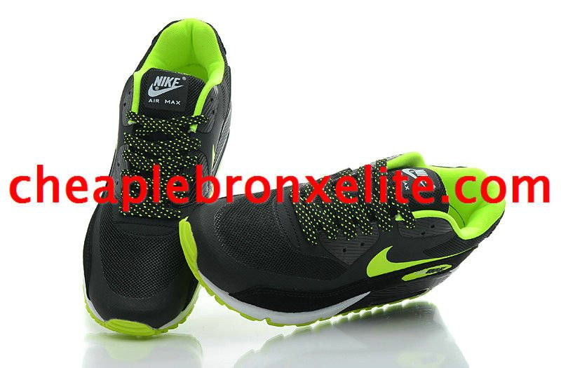 Nike Air Max 90 Shoes Black Fluorescent Green 333888 103