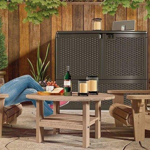 Suncast 195 Gallon Backyard Patio Oasis Storage And ...