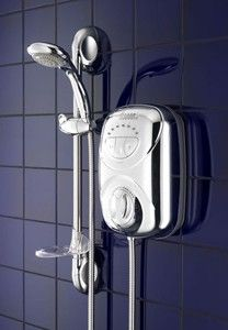 Galaxy G2000 LX thermostatic power shower in chrome. A