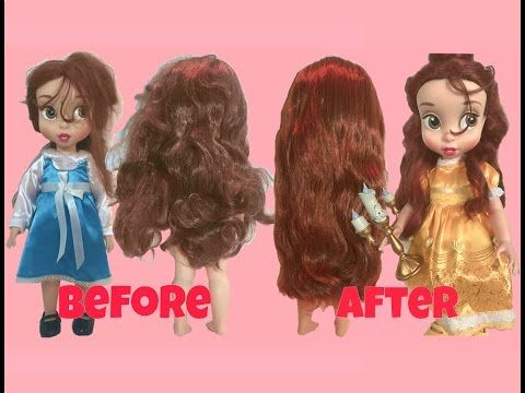 How To Fix Doll Hair Restore Tangled Frizzy Messy Doll Hair Youtube Fix Doll Hair Disney Hair Doll Hair Repair