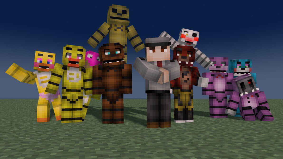 Minecraft Fnaf Mod Five Night Minecraft Minecraft Wallpaper
