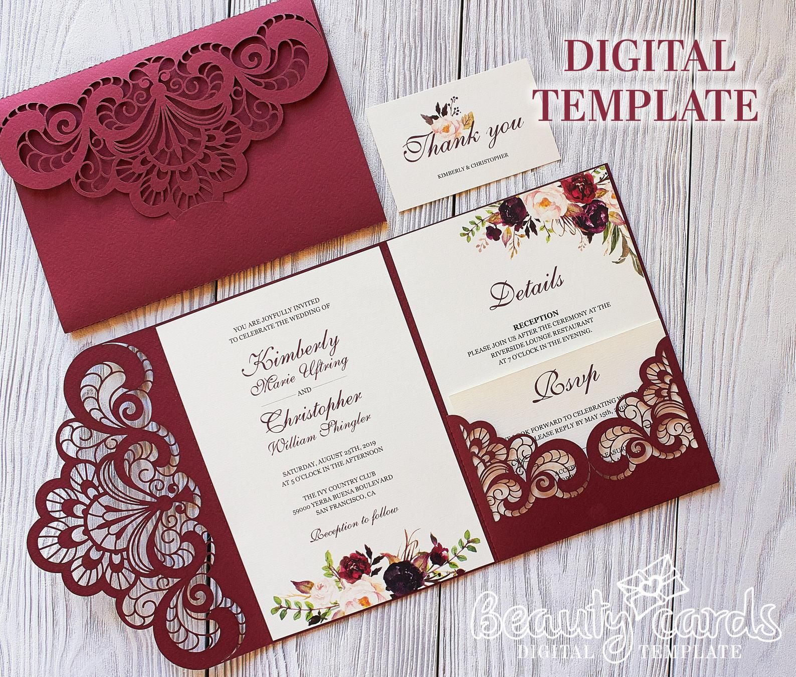 Pin on Wedding invitations diy
