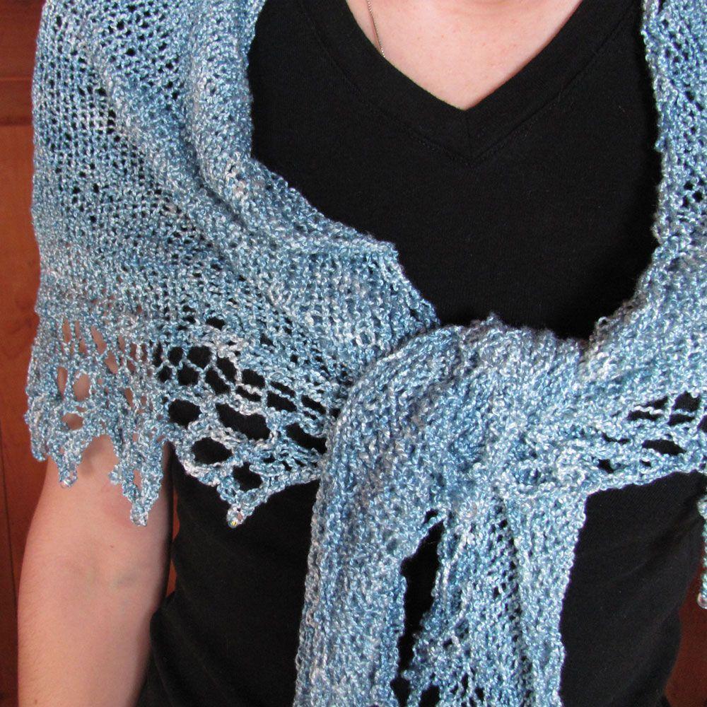 shawls patterns to knit | Triangle shawl knit of a light ...