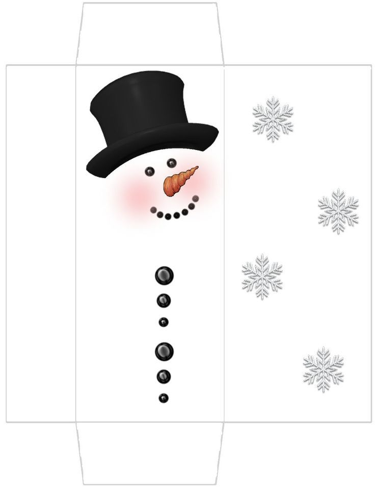 Snowman Craft N Home Outline Template Face Printable Mini Hat
