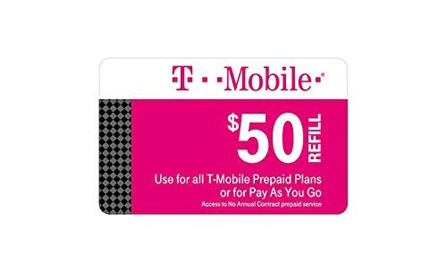 Tmobile 50 Prepaid Refill Card Monthly Plan / Pay As You