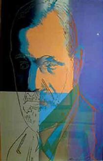 Sigmund Freud by Andy Warhol #PopArt