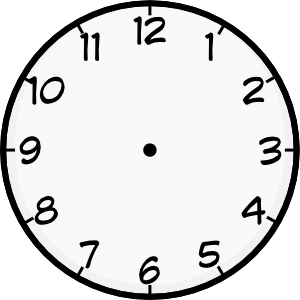 Printable Analog Clock | Shared By: Iyo 12-01-2009 | Blank ...